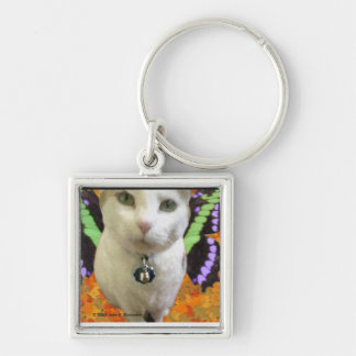 Fairy Cat Square Keychain