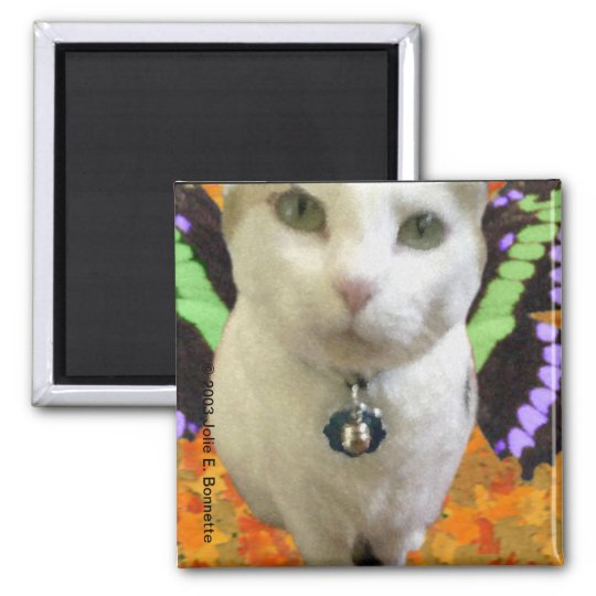 Fairy Cat Square Magnet