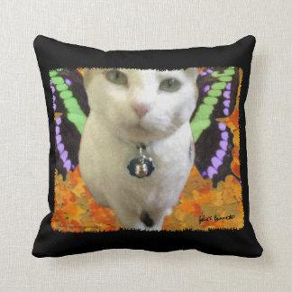 Fairy Cat Throw Pillow