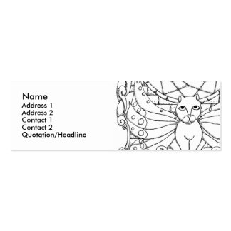 Fairy Cat with Butterfly wings Double-Sided Mini Business Cards (Pack Of 20)