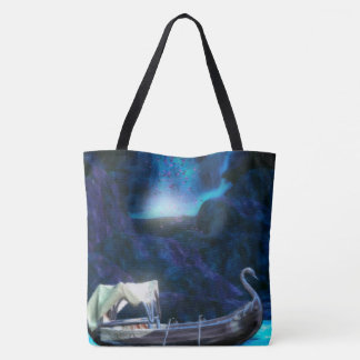 Fairy Cavern Scenic Fantasy Digital Art Tote Bag