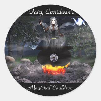 Fairy Cerridwen Classic Round Sticker