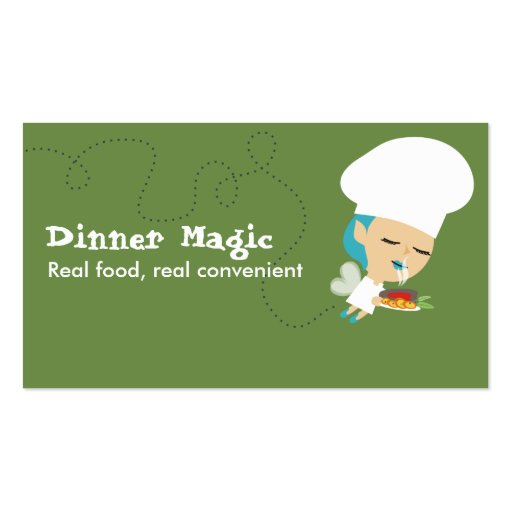 fairy chef dinner plate aromas business cards