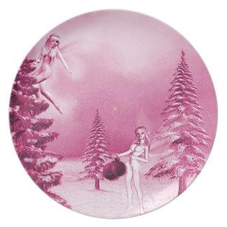 Fairy Christmas Decorating Plate