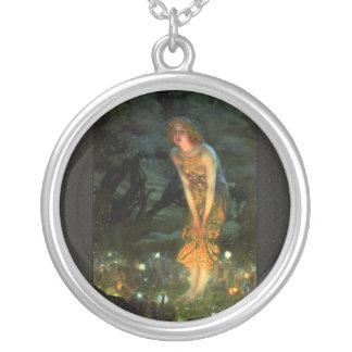Fairy Circle Fairies Midsummer Eve Round Pendant Necklace