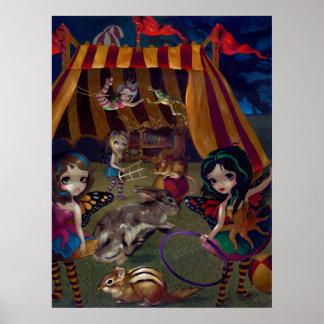 Fairy Circus ART PRINT fantasy faeries carnival