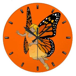 Fairy Clock Butterfly Faeries Wall Clock Fairy Art