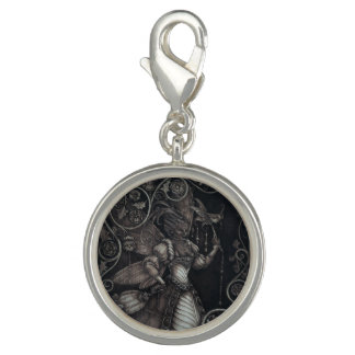 Fairy Courtier - The Wasp - Charm in Silvertone
