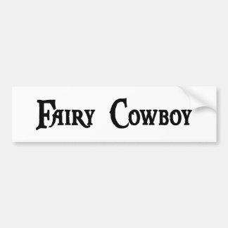 Fairy Cowboy Bumper Sticker Car Bumper Sticker