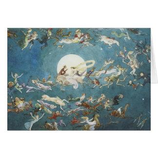 Fairy Dance Around The Moon Greeting Card