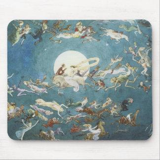 Fairy Dance Around The Moon Mousepad