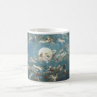 Fairy Dance Around The Moon Classic White Coffee Mug