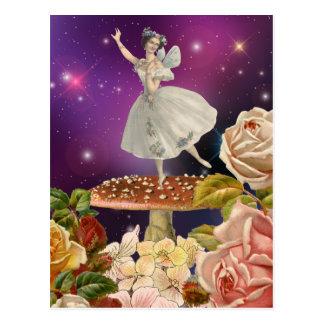 Fairy Dancing on a Mushroom Postcard