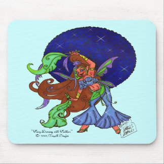 """""""Fairy Dancing With Feathers"""" Mousepad"""