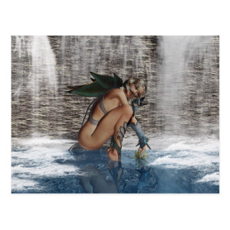 Fairy Deep In Thought - Title: Preoccupied Postcard