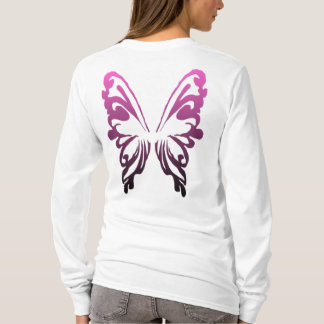 Fairy Design 1 - Wings -  Purple To Black T-Shirt