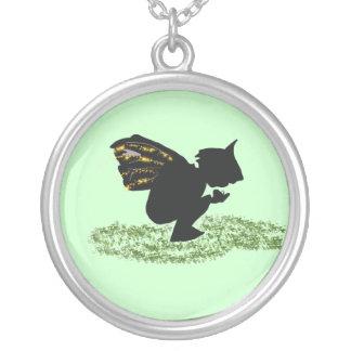 Fairy Design Round Pendant Necklace