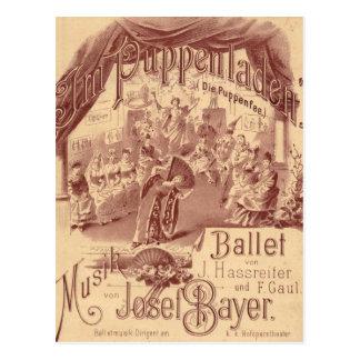 Fairy Doll Ballet - Die Puppenfee - Josef Bayer Postcard