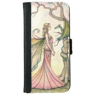 Fairy Dragon Fantasy Art Illustration iPhone 6/6s Wallet Case