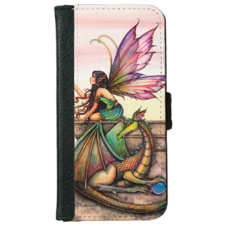 Fairy Dragon Fantasy Art Illustration Wallet Phone Case For iPhone 6/6s