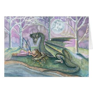 Fairy Dragon Greeting Card by Molly Harrison