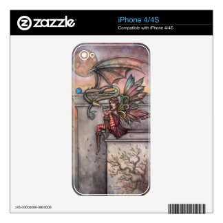 Fairy Dragon iPhone 4 Skins by Molly Harrison