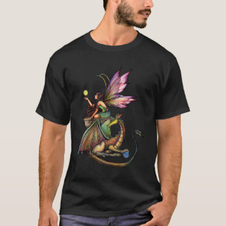 Fairy Dragon Ladies T-Shirt by Molly Harrison