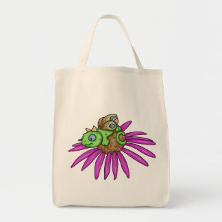 Fairy dragon on a coneflower by Carrie Michael Tote Bag
