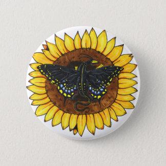 Fairy Dragon on Sunflower Button