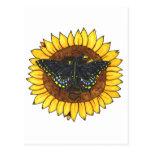 Fairy Dragon on Sunflower Post Card