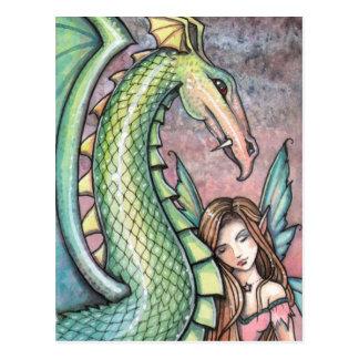 Fairy Dragon Postcard by Molly Harrison