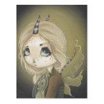 Fairy Dragon postcard green