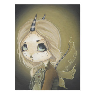 Fairy Dragon postcard green