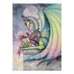 Fairy Dragon Poster by Molly Harrison