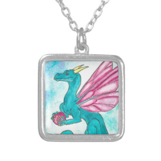 Fairy Dragon Silver Plated Necklace