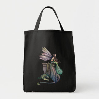 Fairy Dragon Tote Bag Grocery Tote