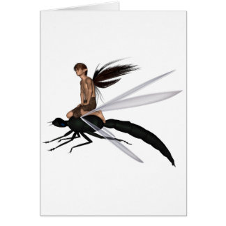 Fairy Dragonfly Rider Greeting Card