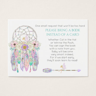 Fairy Dream Catcher Baby Shower Book Request Business Card