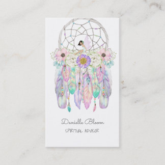 Fairy Dream Catcher Boho Arrows Feathers Business Card
