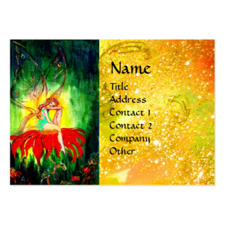 FAIRY DREAMING ON THE FLOWER LARGE BUSINESS CARDS (Pack OF 100)