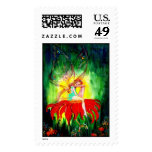 FAIRY DREAMING ON THE FLOWER POSTAGE STAMPS