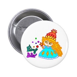 """Fairy Dust"" Cute Funny Cartoon Magic Princess Pinback Buttons"