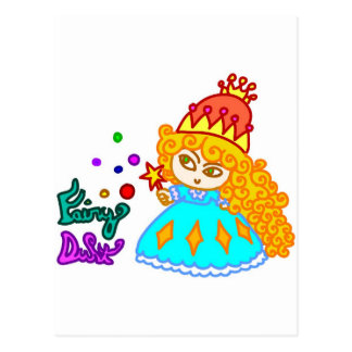"""Fairy Dust"" Cute Funny Cartoon Magic Princess Postcard"