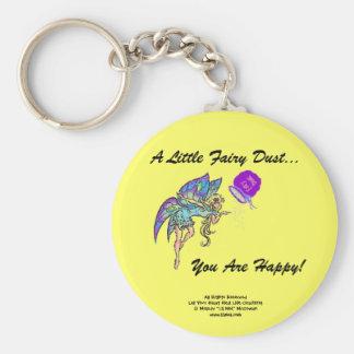 Fairy Dust Happy Keychain