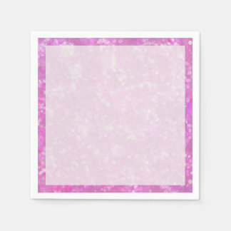 Fairy Dust in Pink and Purple Paper Napkin