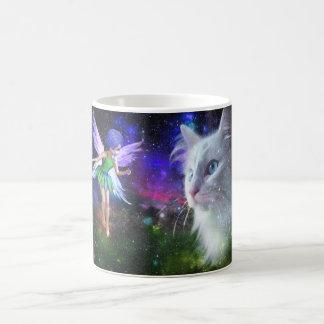 Fairy Encounters Cat Coffee Mug