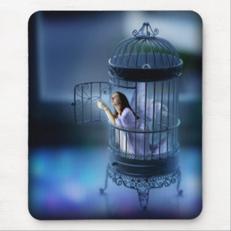 Fairy Escaping Her Gilded Cage Mouse Pad