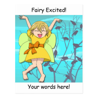 Fairy excited postcard
