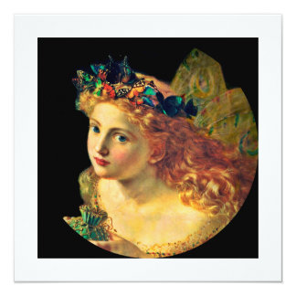 Fairy Face with Butterfly Halo Card