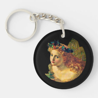 Fairy Face with Butterfly Halo Keychain